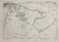 West Yorkshire Map - Ordnance Survey Emergency Edition 1938 - Selby, River Ouse