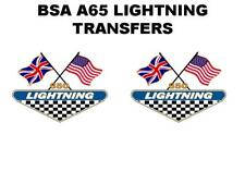 BSA A65 LIGHTNING 1968 SIDE PANEL TRANSFERS DECALS SOLD AS A PAIR