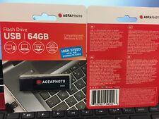 NEW 64GB USB 3.0 AGFA Photo FLASH DRIVE USB / LIGHTNING FAST FREE SHIPPING
