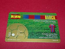 RARE FOOTBALL CARD FOOT2PASS 2010-2011 FC BARCELONA Barça CAMP NOU BLAUGRANA