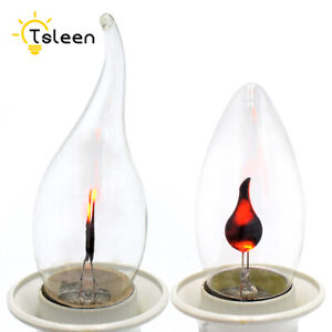 RETRO SIMULATION FIRE BURNING FLICKER LIGHTS DYNAMIC FLAME C35 CANDLE BULB E82F