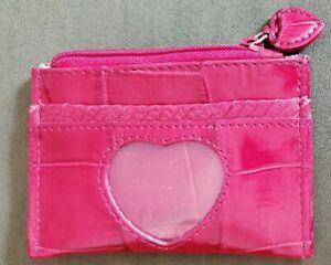 Fun Red Heart Id Card Holder Coin Purse