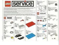 Lego Service hoja 1988