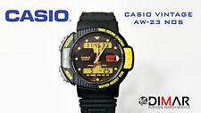 VINTAGE CASIO AW-23 NOS MODULO 791 1000 HOURS CHRONO WR.50