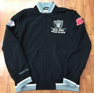 Authentic Oakland Raiders Super Bowl XVIII NFL Mitchell Ness  warm-up Jacket