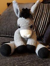 Handmade crochet donkey