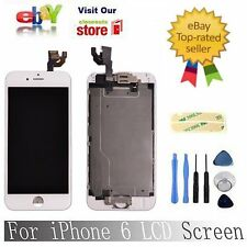 """for White Iphone6 4.7"""" Replacement Digitizer Touch Screen Homebutton& Camera"""