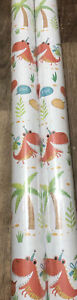 Children's Birthday Party Dinosaur Wrapping Paper - 2 X 3m Rolls **NEW**