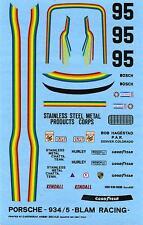PORSCHE 934/5 N°95 BLAM RACING IMSA 1977 DECALS 1/43