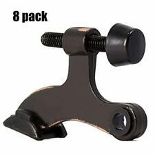 Homotek 8 Pack Hinge Pin Oil Rubbed Bronze Door Stopper,Adjustable Deluxe Heavy