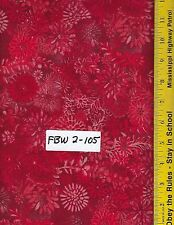 "FBW 2-105 108"" EXTRA WIDE QUILT BACKING BTY: FAUX BATIK LOOK, RED"