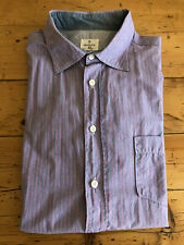 Hartford Brand French Striped Button Front Sport Shirt Mens Xlarge from Barney's