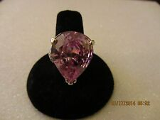 CUTE RING WITH BRIGHT PURPLE STONE,SILVER.925 ,SIZE 8,5,MADE IN USA.