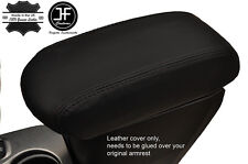 BLACK STITCH ARMREST LEATHER COVER FITS FIAT 500X 500 X 2014-2017
