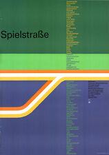 """Olympische Spiele 1972 München Motiv """"SPIELSTRASSE"""" DIN A0 Otl Aicher Olympia"""