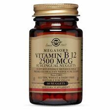 Solgar ~ Megasorb Vitamin B12 Sublingual 2500 MCG ~ 60 Nugget(s) ~ 05/21 ~Sealed