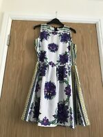 Ladies  Knee Length Summer Tea Dress Size 12 Special Occasion
