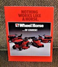 VTG Advertising Wheel Horse Tractor Brochure 100 200 300 400