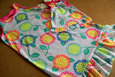 JUMPING BEANS MULTI COLOR SUNFLOWER GOWN PAJAMA ++ MATCHING GOWN FOR A DOLL (7)