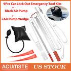 12pcs Car Door Open Unlock Kit Set Key Lock Out Emergency Opening Air Pump Wedge