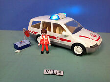 (K15) playmobil Voiture ambulance hôpital ref 4223 4404