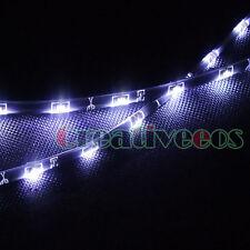 "2x 30CM 12"" 15LEDs 12V Car SMD Side-emitting Glow Flexible LED Strip Light White"