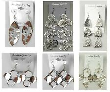 A-7 Wholesale Jewelry lots 6 pairs Mixed Style Silver Plated  Drop Earrings