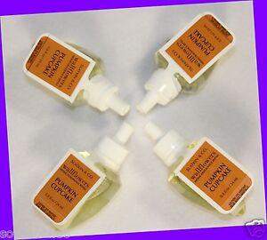 4 Bath & Body Works Slatkin & Co PUMPKIN CUPCAKE Wallflowers Fragrance Refills