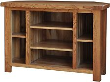 Pendle solid oak furniture corner television cabinet stand unit