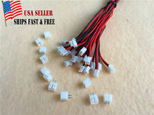 50 sets JST 2.0mm PH 2-Pin Female Connector Plug with Wire and Male Connector US