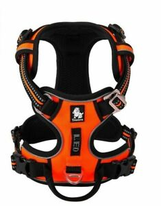 Reflective Pet Harness Padded Adjustable Dog Control Vest No Pull Safety Lead