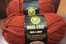 Lot Of 2 NEW SKEIN LION BRAND WOOL-EASE THICK & QUICK YARN - SPICE - 6 OZ
