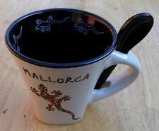 OLE MOSAIC Mallorca Espresso Coffee Cup with Spoon Souvenir Ceramic