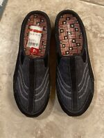 Easy Spirit Traveltime Clogs Women's 8.5 Medium Blue Leather & Denim Slip-On's