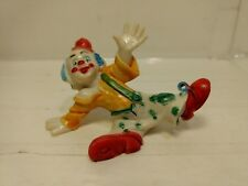 """Vintage 3"""" Classic Silly Clown In Overalls Doing A Split Figurine hd643"""