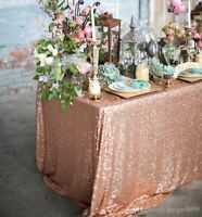 """Sparkly Tablecloth Sequin Table Cloth Wedding & Events 72"""" X 90"""" and 72"""" X 108"""""""