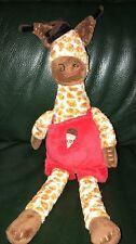 Catimini Grand Doudou Girafe Salopette Rouge Choco Env 40 Cm TTBE