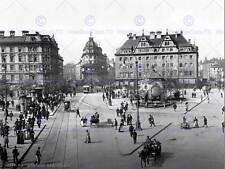 MUNICH KARLSPLATZ POSTCARD LATE 19TH CENTURY OLD BW PHOTO PRINT POSTER 1409BWB