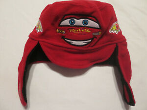 Disney Pixar Cars Red Trapper Hat with Earflaps Toddler