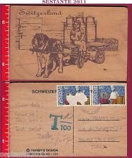 A253 CARTOLINA IN LEGNO SWITZERLAND THOMY'S DESIGN
