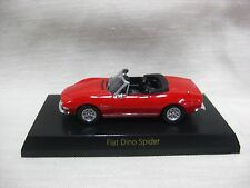 1:64 Kyosho Fiat Dino Spider Red Diecast Model Car Collection Japan