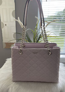 New Kate Spade New York Natalia Large Tote Quilted Chalk Pink Tote Great Gift
