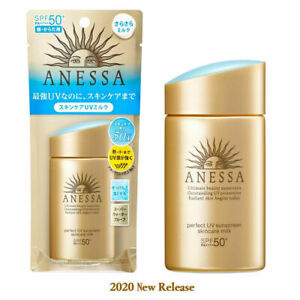 New Shiseido ANESSA Perfect UV Skincare Milk Sunscreen SPF50+PA ++++ 60ml NEW JP