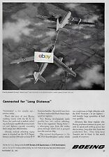 BOEING 1951 B-50 SUPER-FORTREES & B-47 STRATOJET BOMBER REFUELING INFLGHT AD