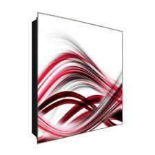 """Schlüsselkasten """"Abstract lines"""" DEKOGLAS 30x30 aus Glas, Flur Wand modern"""