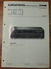 CD Player Wechsler CDC477 CDC 477 Grundig Service Manual Serviceanleitung