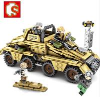 Blocksteine Sembo Panzerkanone Militär Figur Spielzeug Modell Geschenk 395PCS