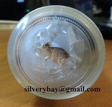 2007 2008 Perth Mint 20oz (20x1oz) Silver Lunar Rat Mouse Mint Roll