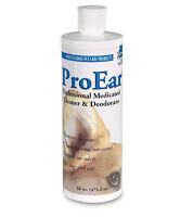 Dog Cat Ears Cleaner Pet Wax Professional Medicated Solution Treatment New 16 Oz