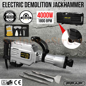 PPAP 4000W Jackhammer Commercial Grade Demolition Jack Hammer Concrete Electric